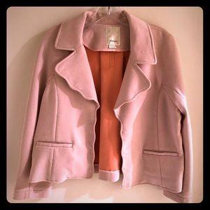 Anthropologie Elevenses scalloped blazer